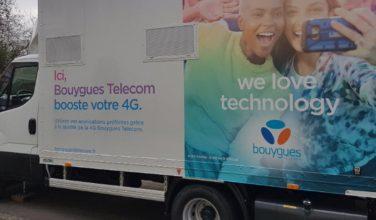 Bouygues Telecom présente ses #camions4G pour couvrir les zones de forte affluence temporaire