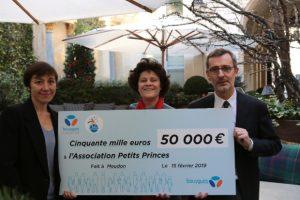 Noël - Remise chèque Association Petits Princes