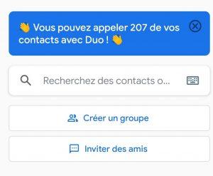 Garder le contact en confinement - Application Google Duo