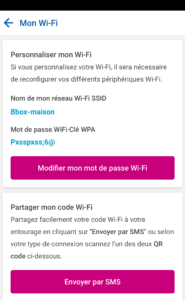 Aperçu Gestion Wi-Fi - Appli Espace Client - Bouygues Telecom