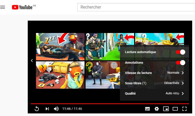 Paramètres - Youtube - Réduire impact environnement - vidéo en ligne