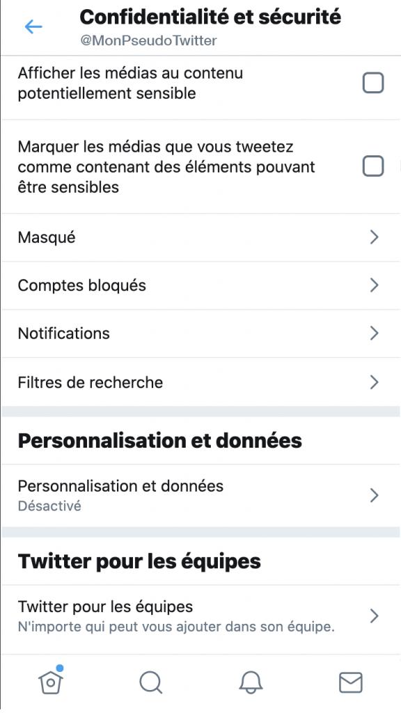 Twitter - masquer le contenu sensible - Réseaux sociaux et ados