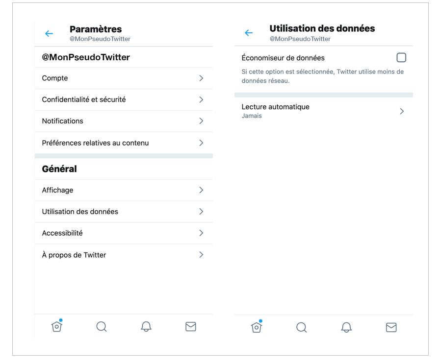 Twitter - économiser données - data - Réseaux sociaux et ados
