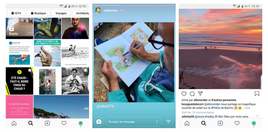 Aperçus - application Instagram - photos et vidéos - Réseaux sociaux et ados