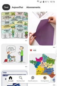 Aperçu Pinterest - Application Mobile - réseaux sociaux et ados