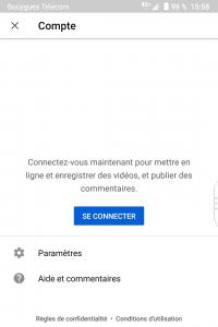 Paramètres - compte - Youtube - réseaux sociaux et ados