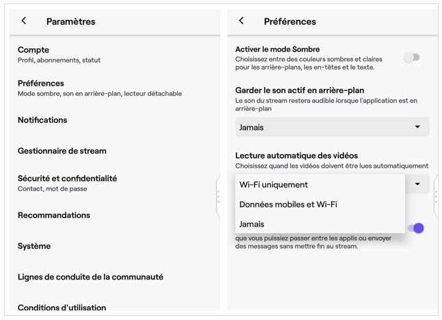 Paramètres - économie données - data - Twitch - Réseaux sociaux et ados