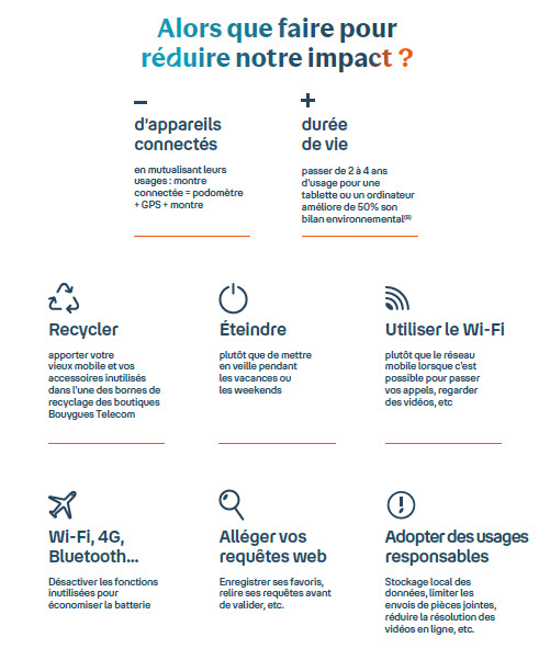 Conseils - réduire son impact - numérique - environnement