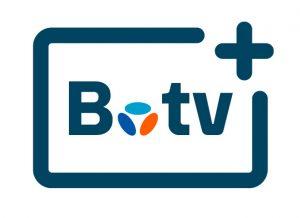 Logo B.tv+ - application TV - mobile - TV - Tablette