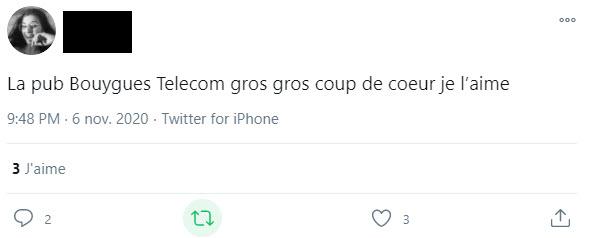 Témoignage 3 Facebook - publicité Noël 2020 - huîtres - Bouygues Telecom