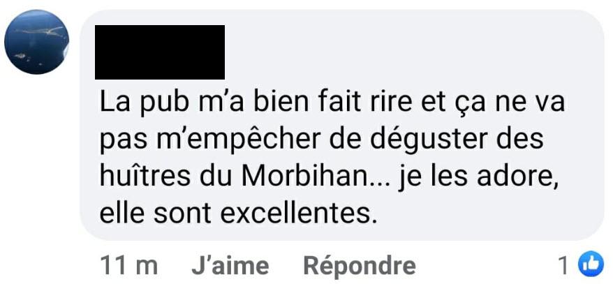 Témoignage 1 Facebook - publicité Noël 2020 - huîtres - Bouygues Telecom