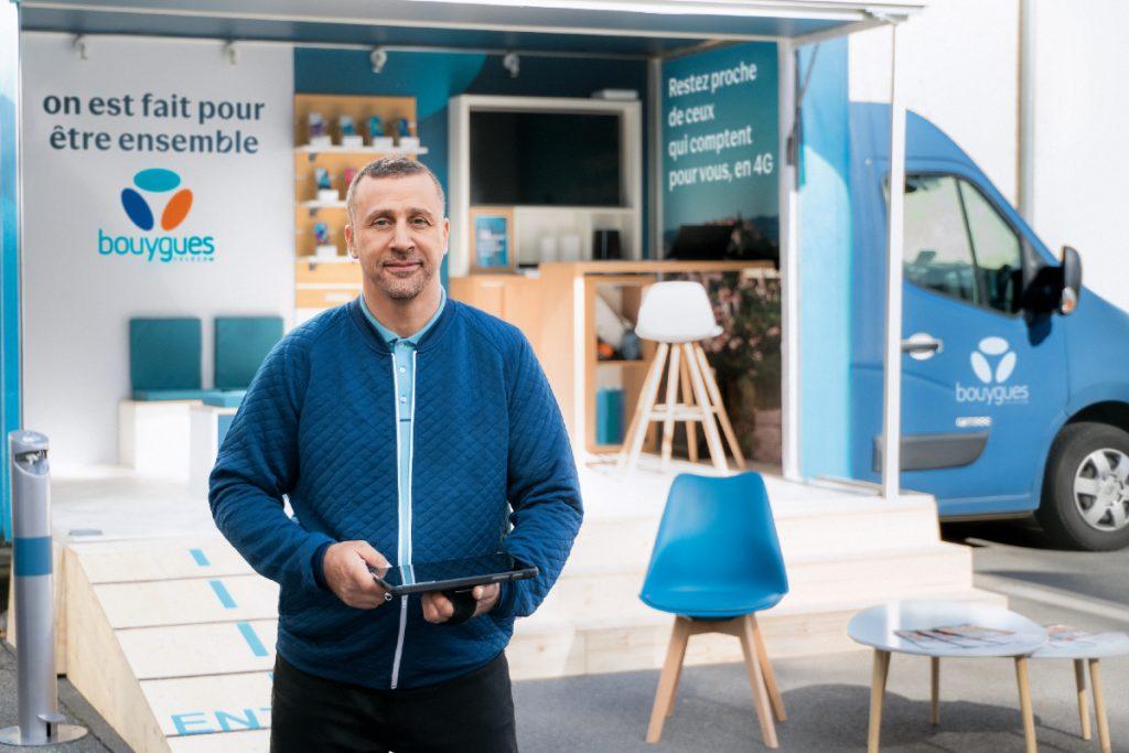 Camion- boutiques - Bouygues Telecom - tournée des marchés
