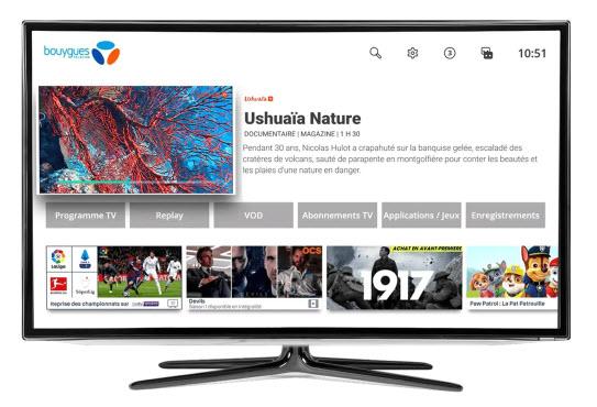 Interface TV - Bbox Miami et Bbox 4K