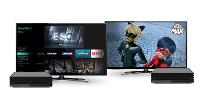 Option Multi TV - deux téléviseurs deux décodeurs